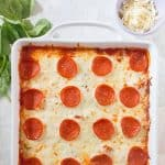 Deliciously pillowy and tender, the gnocchi really makes each bite of this Gnocchi Pizza Bake a dream!