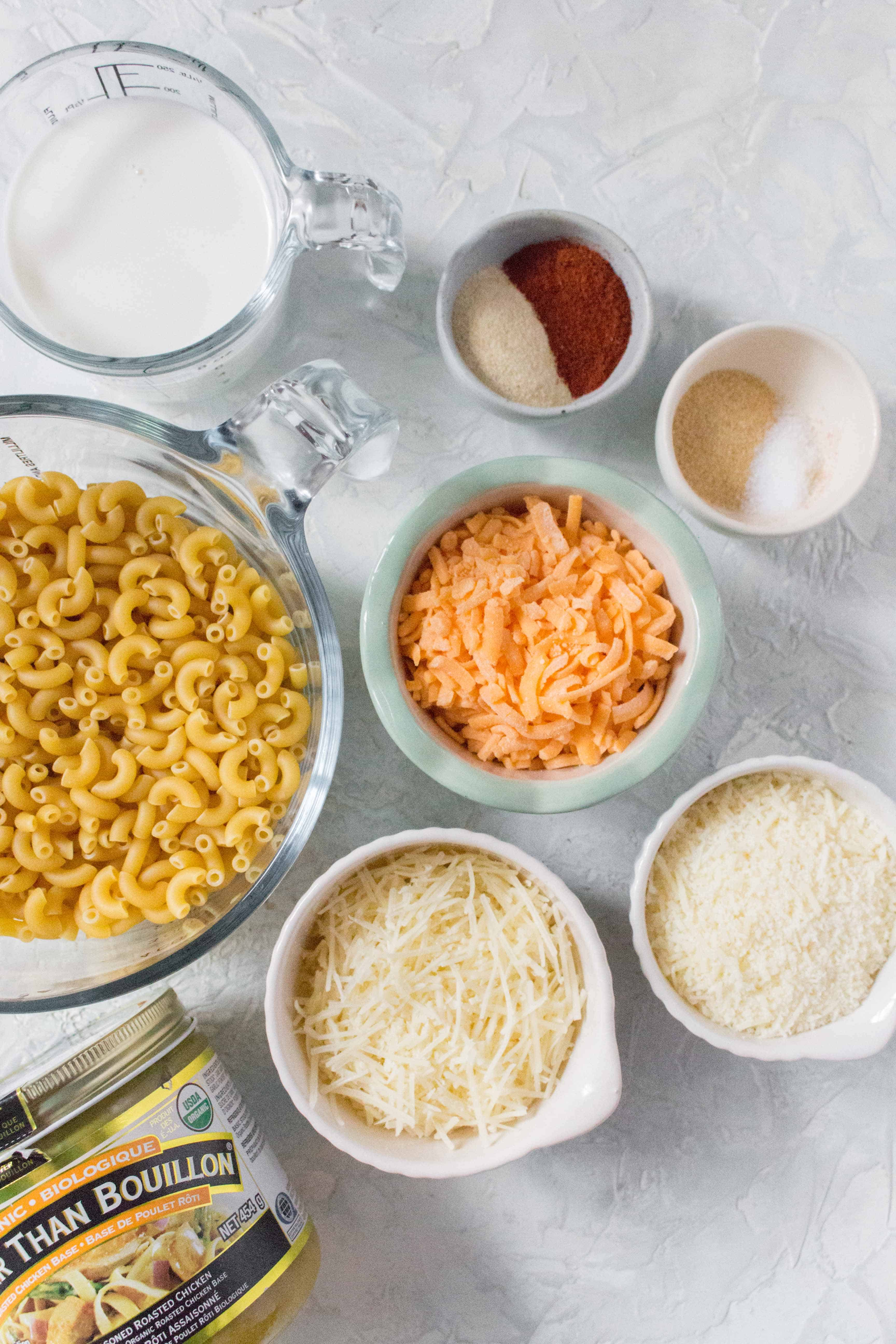what you need to make the easiest instant pot mac and cheese