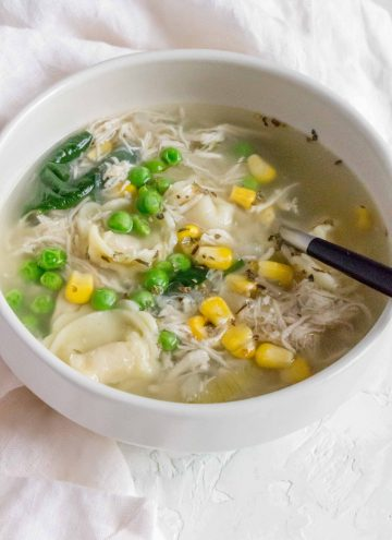 This Chicken and Cheese Tortellini Soup is one of my go-to dump and go recipes for the Instant Pot!