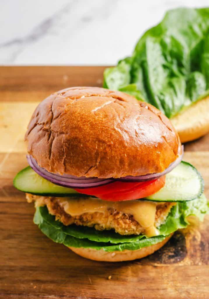 A chicken sandwich.